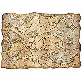 Beistle Jumbo Treasure Map Cutout, 241/2 by 341/2-Inch