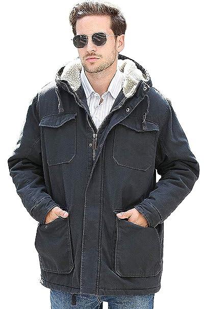 YsCube Abrigo con Capucha y Forro de Franela con Capucha Workwear para Hombre: Amazon.es: Ropa y accesorios
