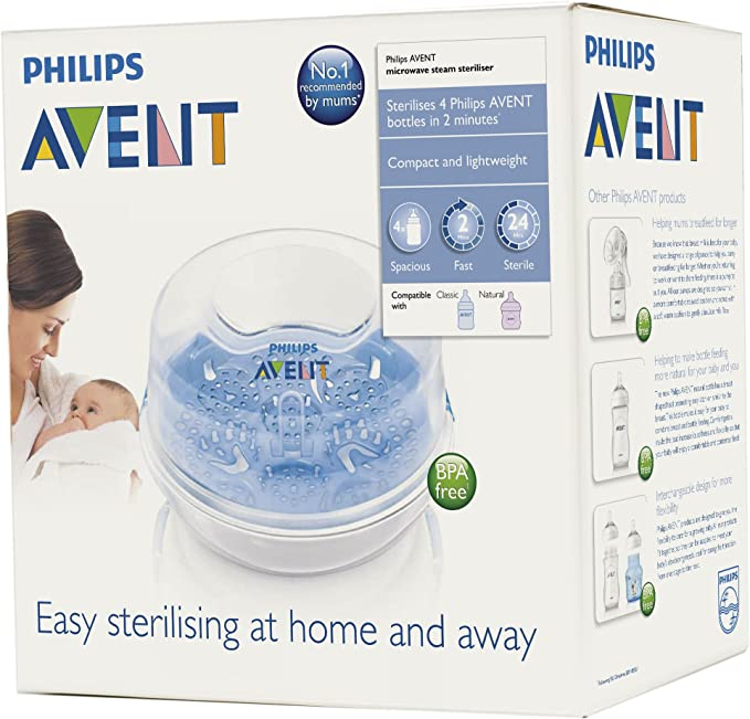 Philips AVENT Microwave Steam Steriliser - SCF281/02: Amazon.es: Bebé