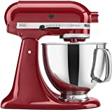 KitchenAid KSM150PSER Artisan 5-Quart Stand Mixer, Empire Red