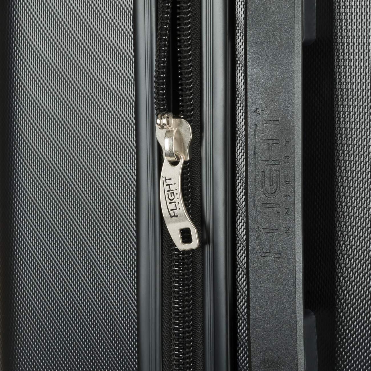 Bagage /à Main L/ég/ère Sac Cabine avec 4 Roues. Air Canada Flight Knight ABS Valise Cabine 55x40x23 cm L/ég/ère Taille Maximum Permise avec Lufthansa Swiss International Et Bien dautres