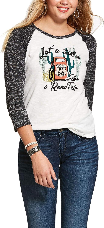 ARIAT Camisa de Viaje para Mujer - Blanco - Small: Amazon.es: Ropa y accesorios