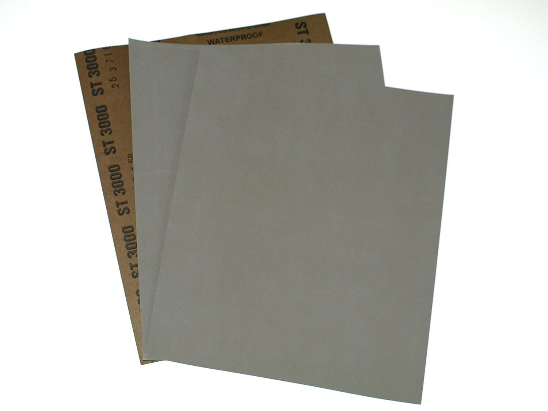 SandpaperSeller - Papel de lija para superficie seca y mojada (grano P3000, 3 hojas) 3x 3000 Grit