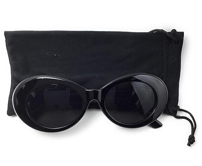 0696537571 Amazon.com  Clout Goggles Bold Oval Retro Mod Vintage Kurt Cobain Glasses- Sunglasses (Black