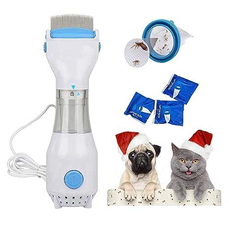 Womdee Peines de piojos para Mascotas, hipoalergénicos y sin Productos químicos, Tratamiento de pulgas