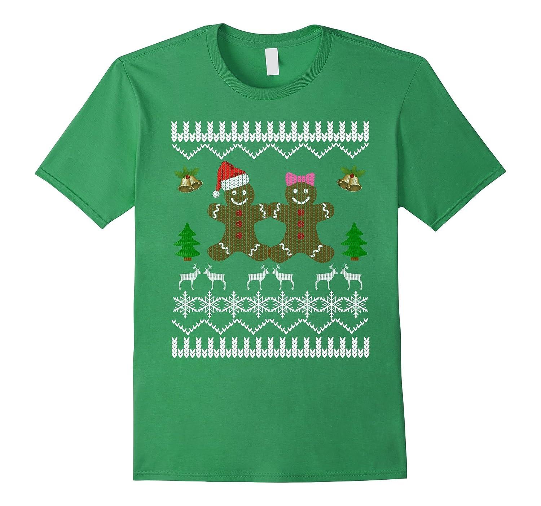 Boy Girl Gingerbread Love Ugly Christmas Sweater T-Shirt-ANZ