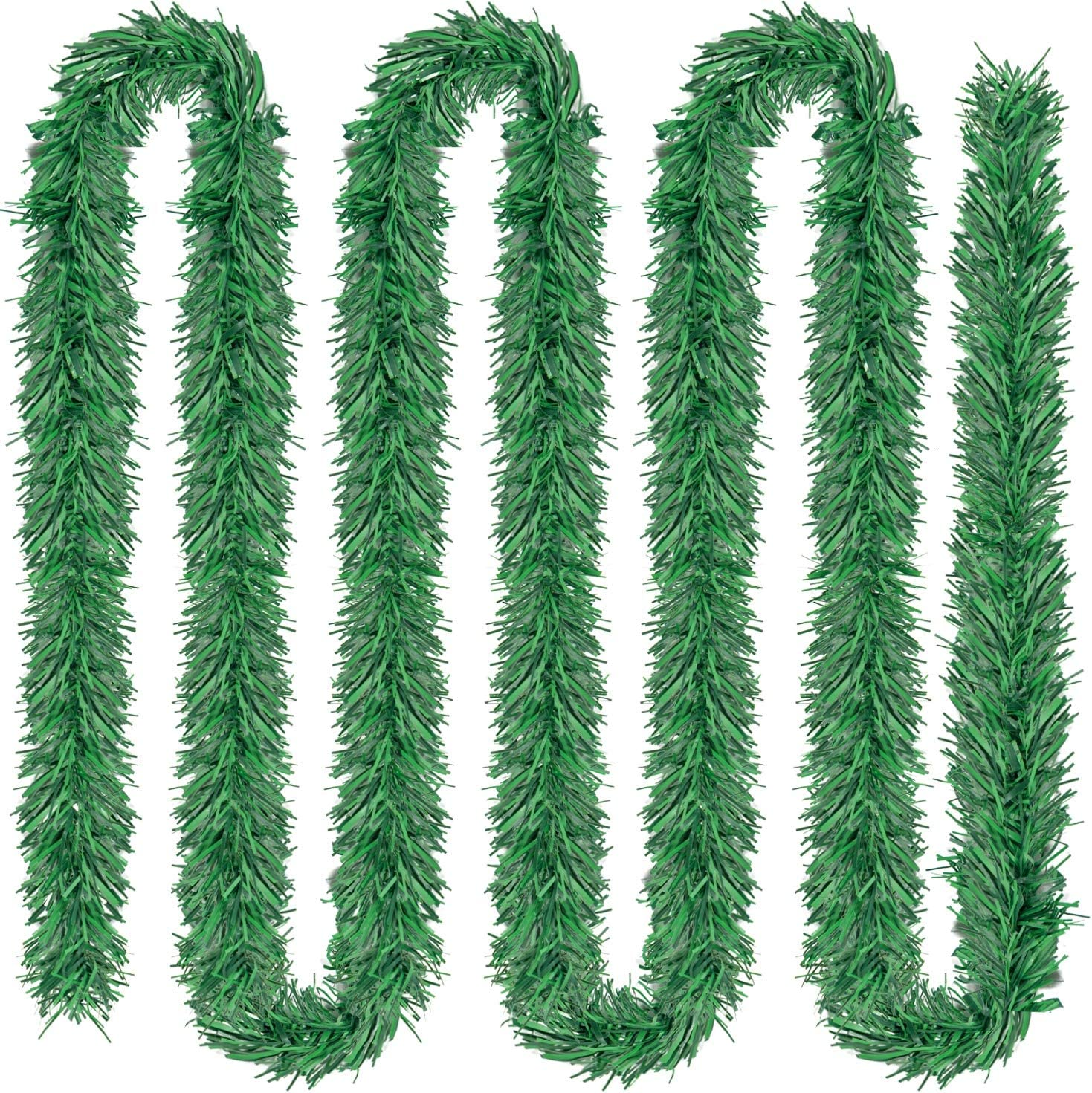 Rocinha 100 Foot Non-Lit Holiday Garland, Christmas Garland Green Holiday Decor for Outdoor or Indoor Use, Artificial Pine Garland Soft Greenery Garland for Holiday Wedding Party Decoration
