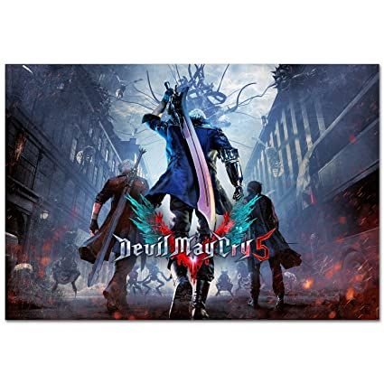 amazon com devil may cry 5 official art poster prints ps4 pc xbox