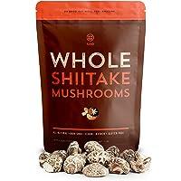 SBO White Flower Shiitake Mushrooms - All Natural Vegan and Gluten-Free Dried Whole Mushrooms - 4-5 cm, 16 oz.