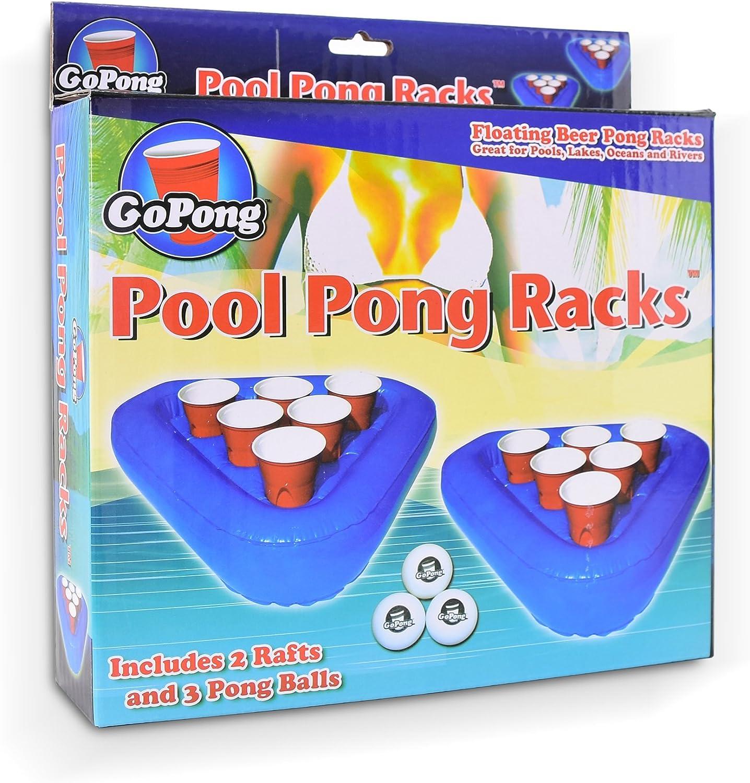 Amazon.com: Balsa flotante GoPong para piscina, set flotante ...