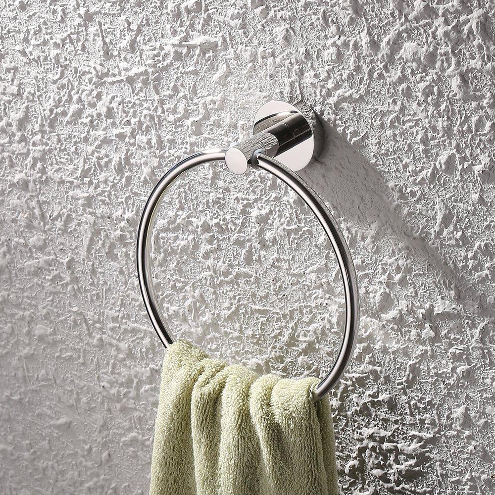 acabado pulido Acero inoxidable SUS304 UMI dise/ño elegante Toallero de anilla de pared de