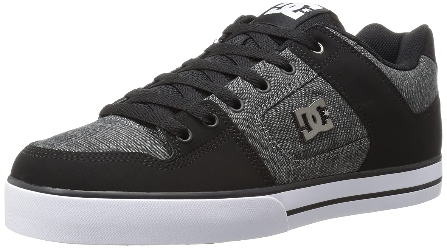 DC Men's Pure Tx Se Skate Shoe 7.5 D(M) US|Black