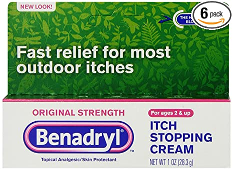 Amazon.com: Benadryl Itch Stopping Cream, Original Strength, 1 Ounce (Pack  of 6): Health & Personal Care