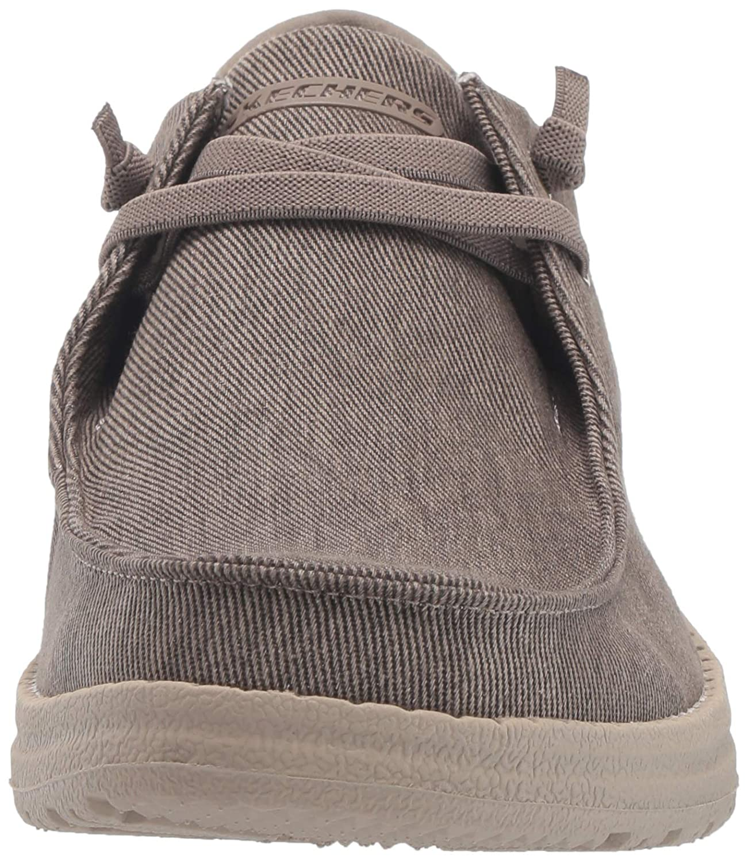 Skechers Herren Melson Raymon Sneaker Grün (Khaki Canvas Khk)