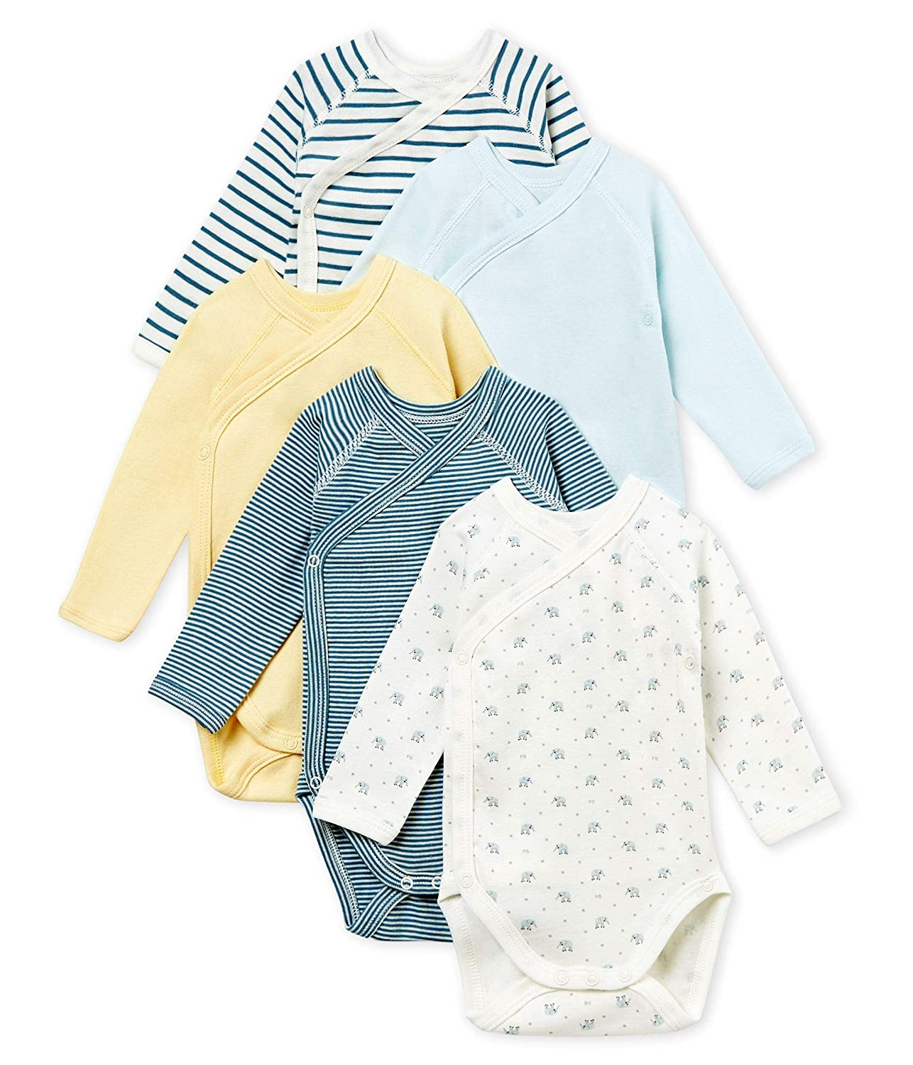 Lot de 5 Petit Bateau Betty Body B/éb/é gar/çon