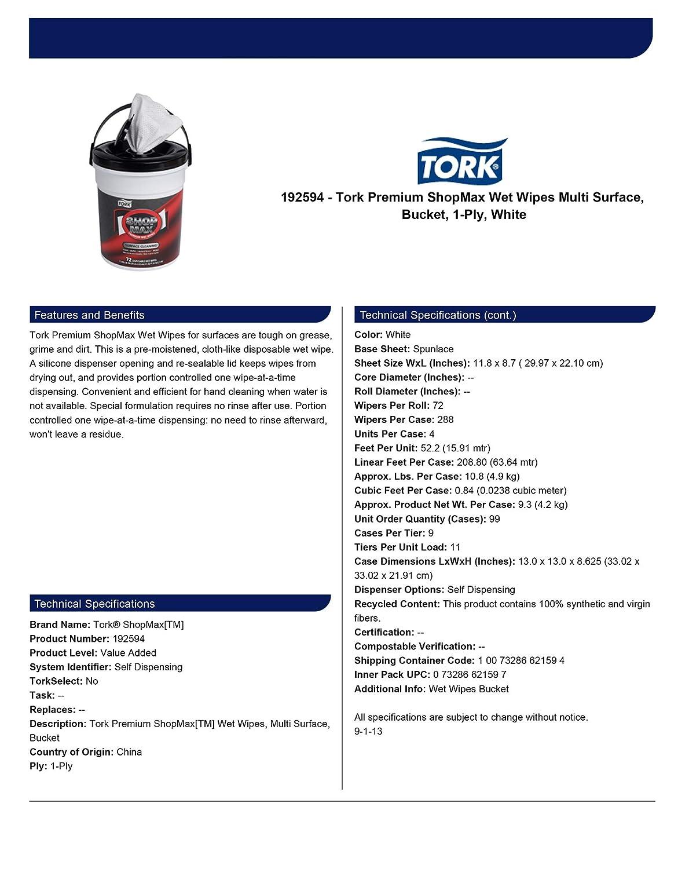 Tork Premium ShopMax toallitas húmedas, Multi-Surface Cleaner, sola hoja dispensador, 72 hojas por cubo: Amazon.es: Hogar