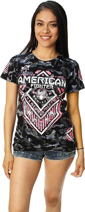 American Fighter - Camiseta - camisa - para mujer Negro negro M: Amazon.es: Ropa y accesorios