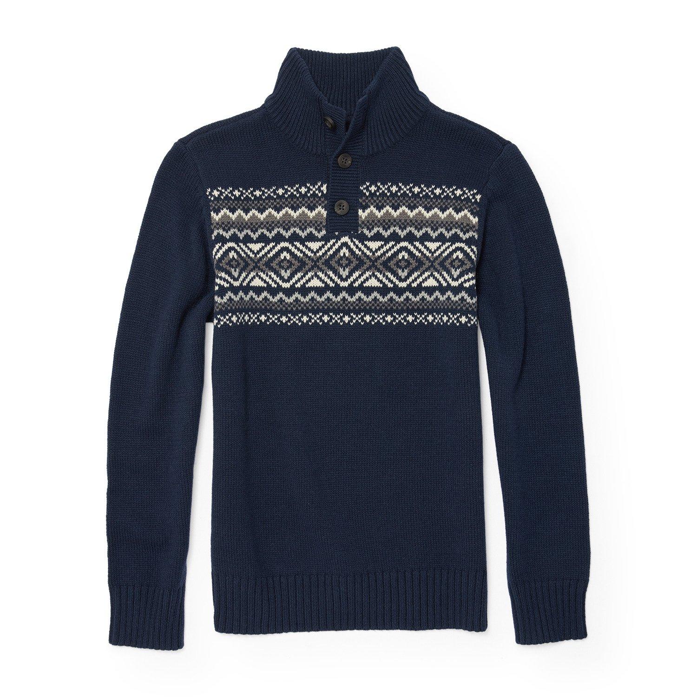 The Children's Place Big Boys' Mock Neck Sweater, Tidal 87568, M (7/8)