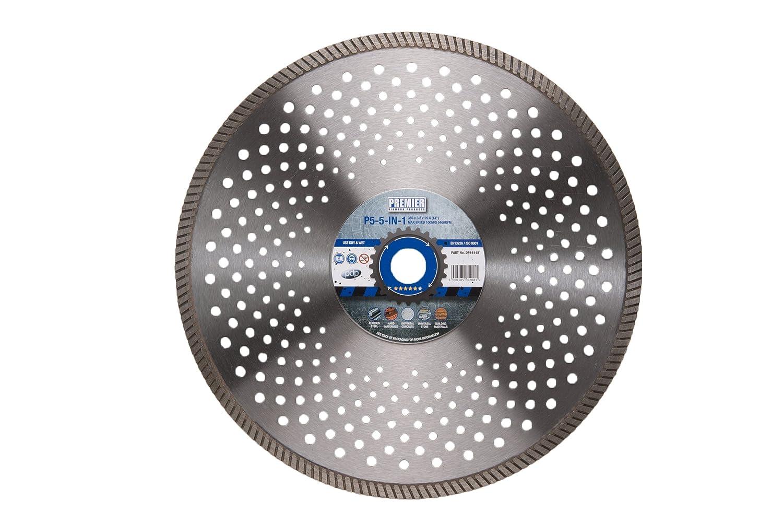 350 x 25.4 mm Premier Diamond DP16145 P5-5 5-in-1 Blade for Multi-Purpose Use Silver