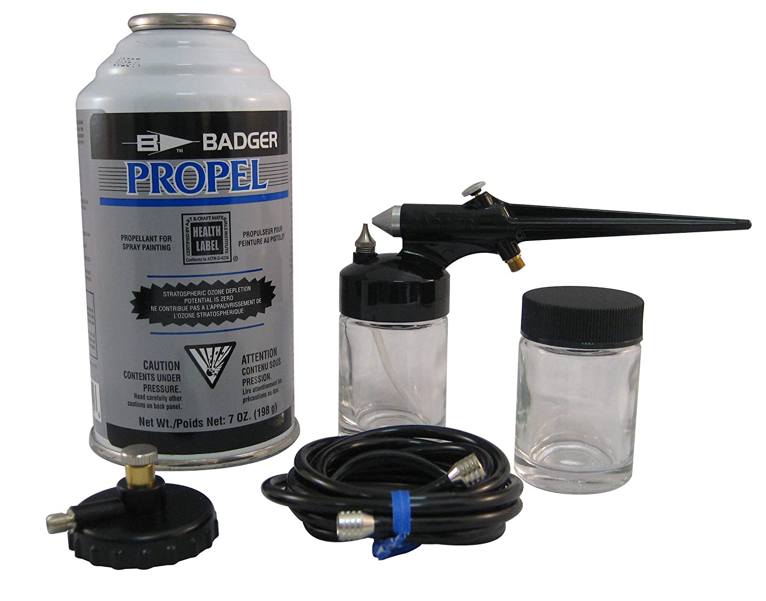 Badger Air-Brush Co. 250-3 Basic Spray Gun Set with Propel