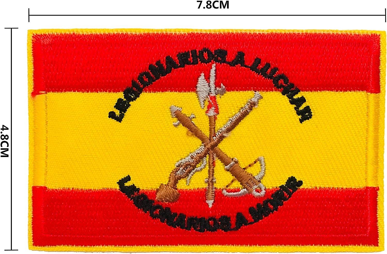 BANDERA DEL PARCHE BORDADO PARA PLANCHAR O COSER (Legión Española 7.8cm): Amazon.es: Hogar