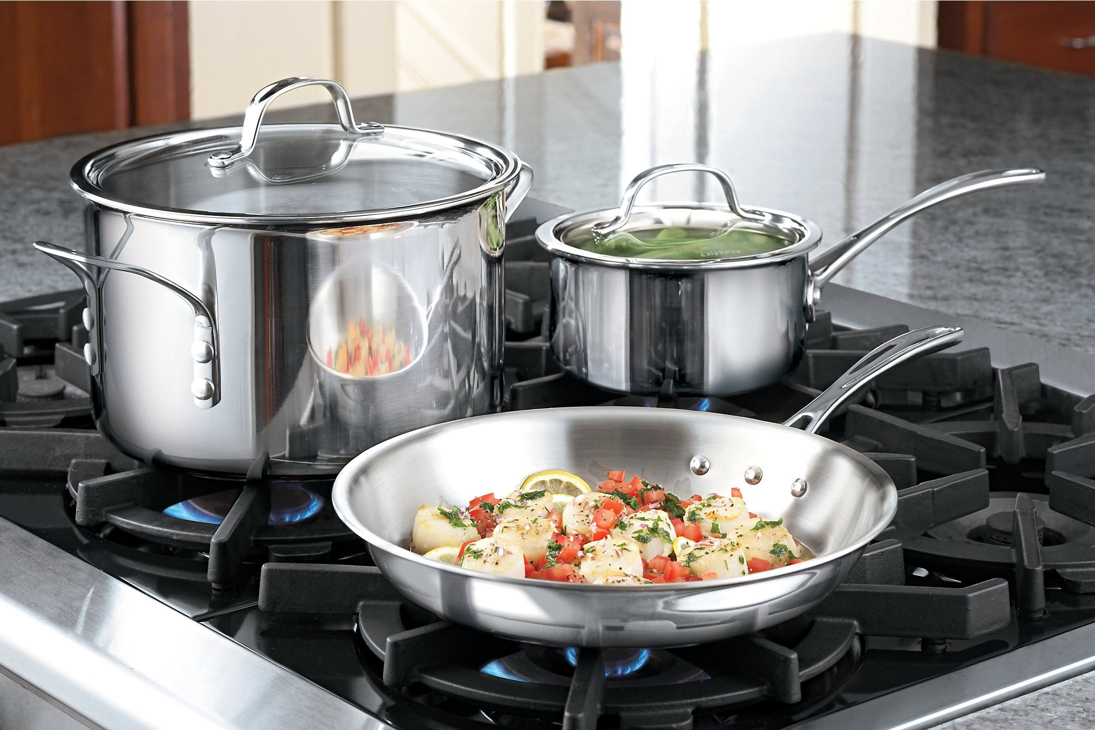 Calphalon Tri-Ply Stainless Steel Saucepan