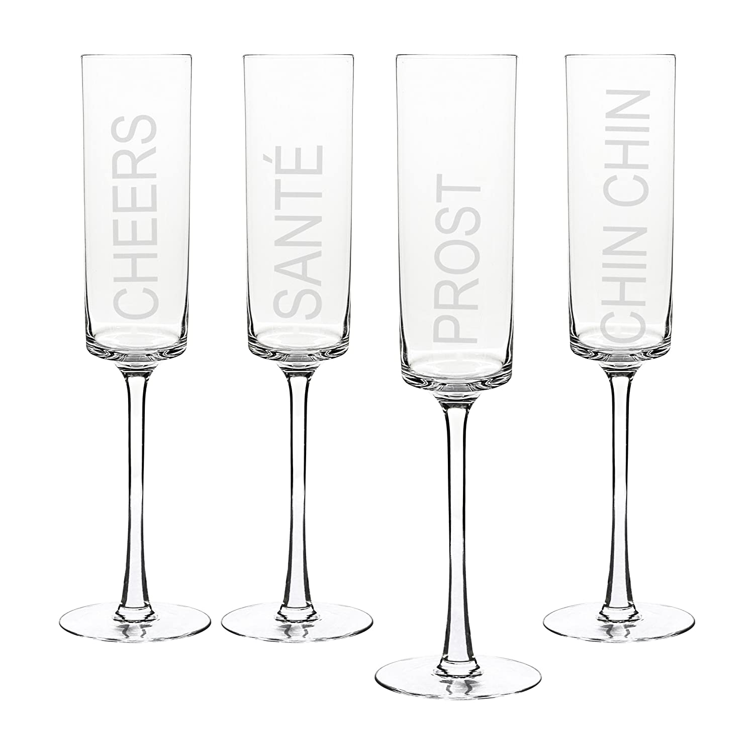 amazoncom  cathy's concepts cheers contemporary champagne flutes  - amazoncom  cathy's concepts cheers contemporary champagne flutes set of cheers champagne glasses champagne glasses