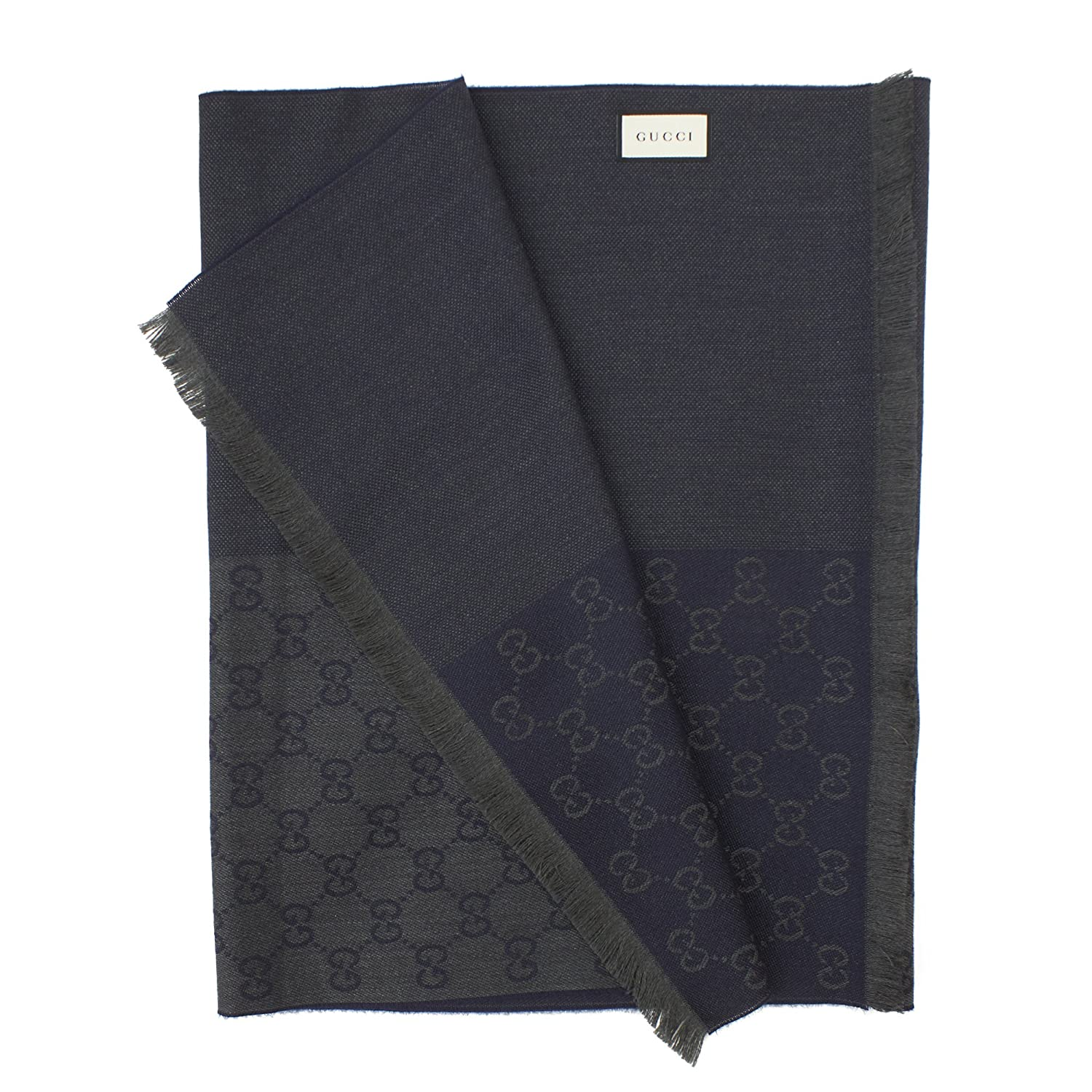 1f39b408a3eee Amazon.com  Gucci Unisex GG Wool Monogram Scarf Half Web Design Olive Green   Clothing