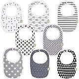 Organic Baby Bibs For Boys & Girls - Organic Cotton Teething Bib - Newborn Bibs for Baby Girl, Boy - Infant Bibs - Machine Wa