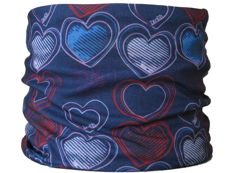 Braga para el cuello, pañuelo de microfibra multifunción, diseño de corazones oscuros wendywwoo