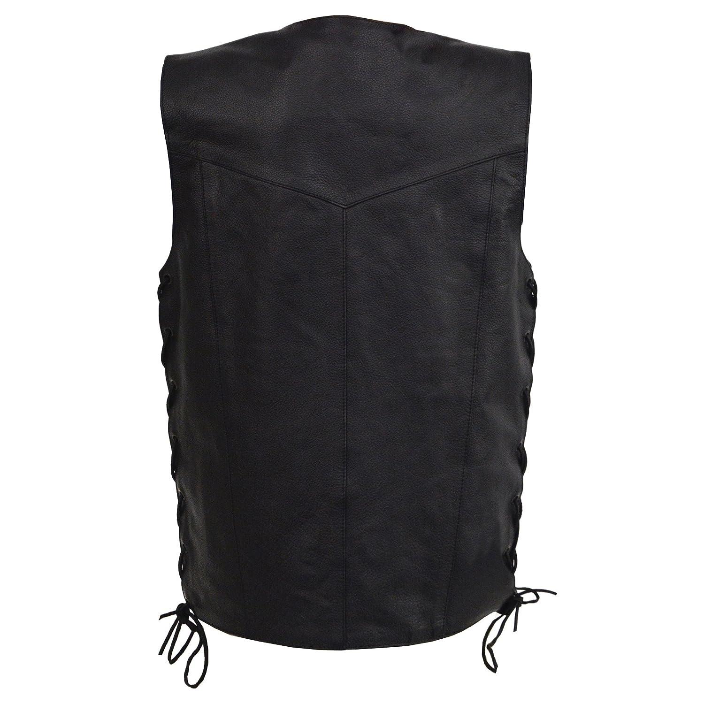 Milwaukee Leather Boys Youth Size Leather Side Lace Biker Vest-BLACK-20 Black, 20