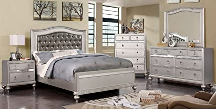 Amazon.com: Esofastore Ariston Bedroom Furniture Classic ...