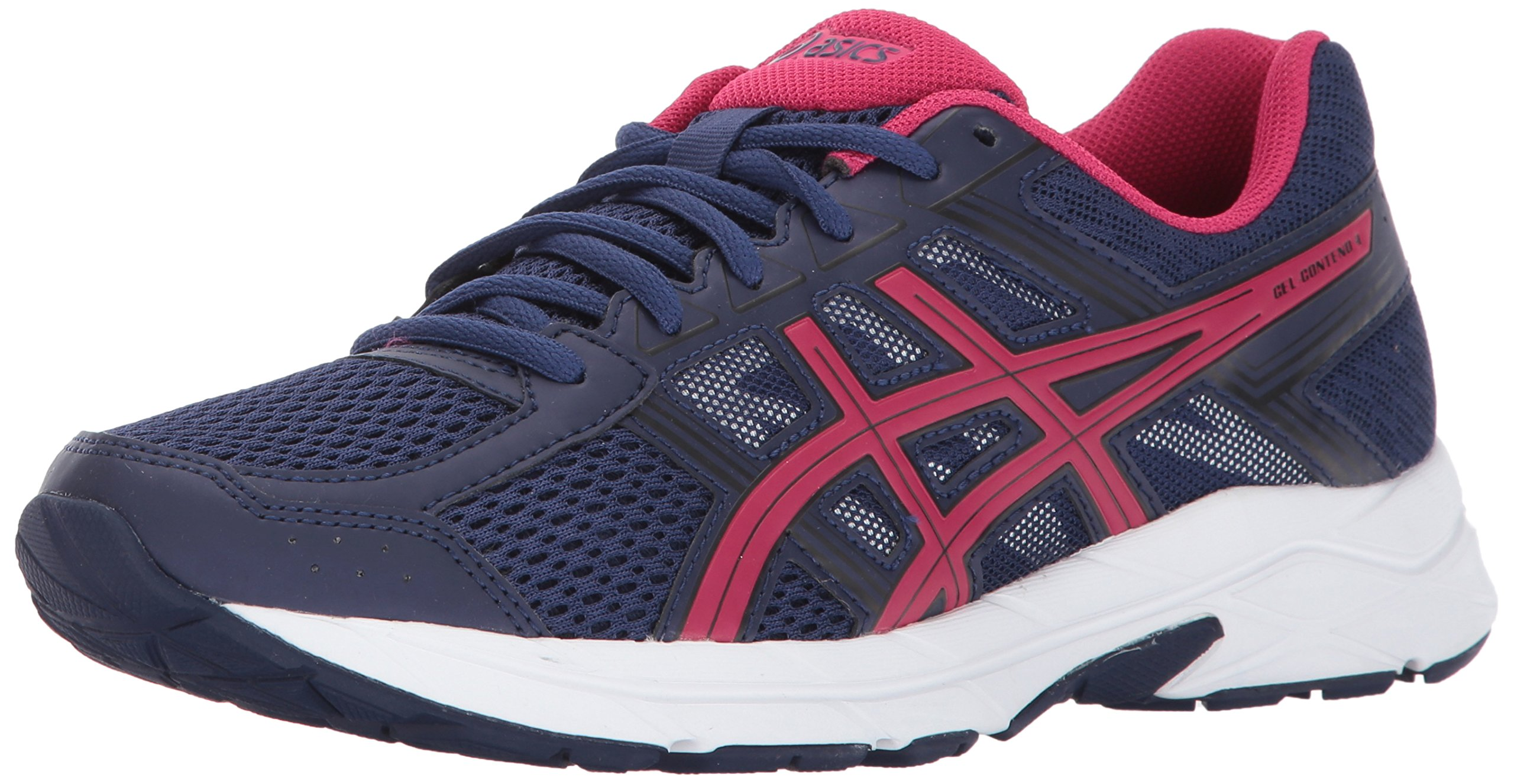 ASICS Womens Gel-Contend 4 Running Shoe Indigo Blue/Cosmo Pink/Black 5 Medium US