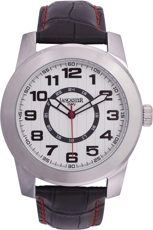 Lancaster 0636LSSBNNR - Reloj de Caballero Cuarzo Piel Negro: Amazon.es: Relojes
