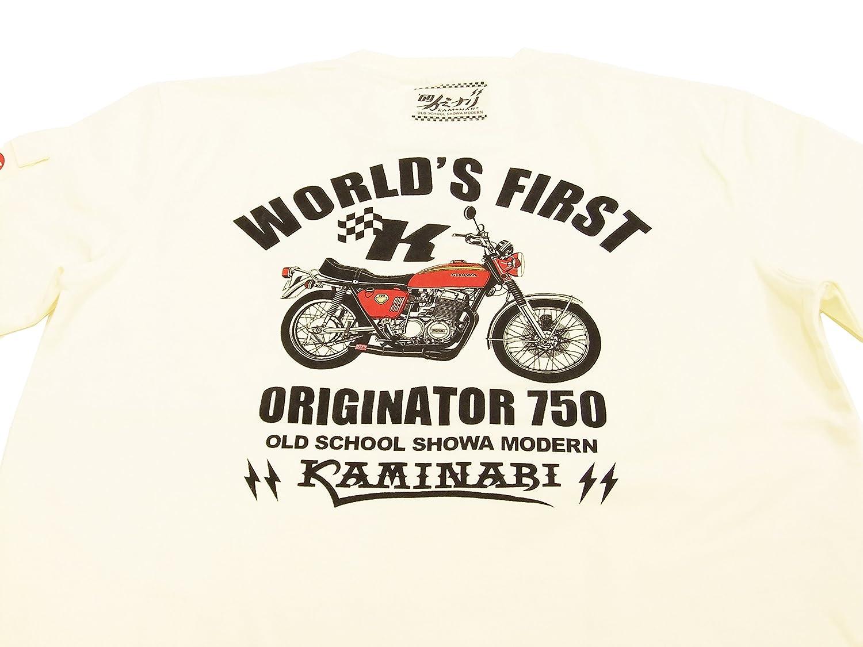 62c7943e Amazon   (カミナリ) Tシャツ KMT-170 CB750FOUR バイク柄 昭和 単車柄 エフ商会 雷 メンズ 半袖tee オフ白 (M)    Tシャツ・カットソー 通販