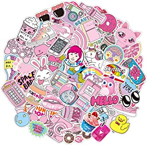 50pcs Cute Stickers for Water Bottles, Funny Waterproof Vinyl Graffiti Trendy Stickers for Teens Girls Kids Adults, Stickers for Hydro Flask Laptop Phone Computer Skateboard Guitar