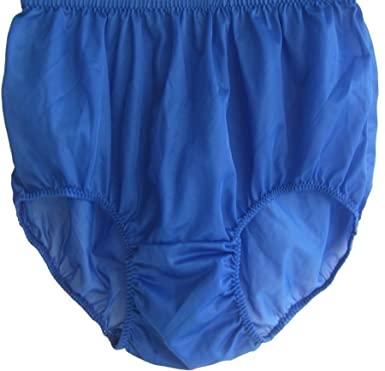 e8dad36ef PKRB Royal Blue Lingerie Panties Briefs Women Ladies Granny Vintage Style  Silky Nylon Sheer free shipping (3XL)  Amazon.co.uk  Clothing