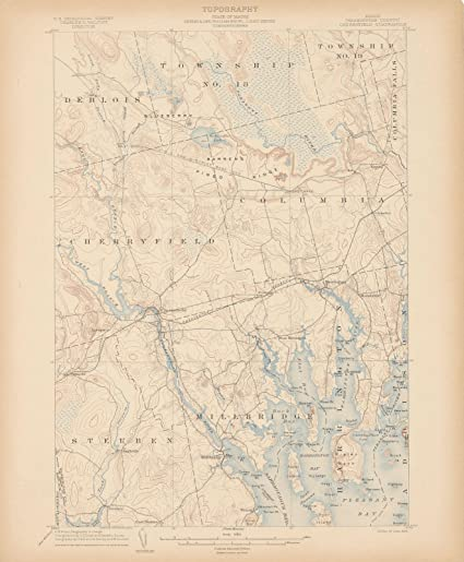 Steuben Maine Map.Amazon Com Atlas Of Maine 1905 Ed 1892 Reprint 1899 Cherryfield