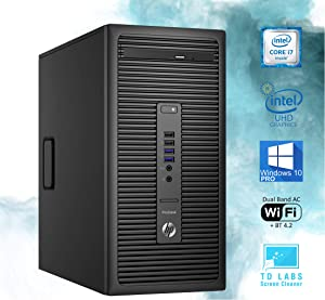 HP 600 G2 ProDesk Mini-Tower PC, Intel Quad-Core i7-6700 Upto 4.0GHz, 16GB RAM, 512GB SSD, 2GB AMD R9 350 HD Graphics 4K, AC Wi-Fi, Bluetooth, HDMI, DisplayPort, TDL - Windows 10 Pro (RENEWED)