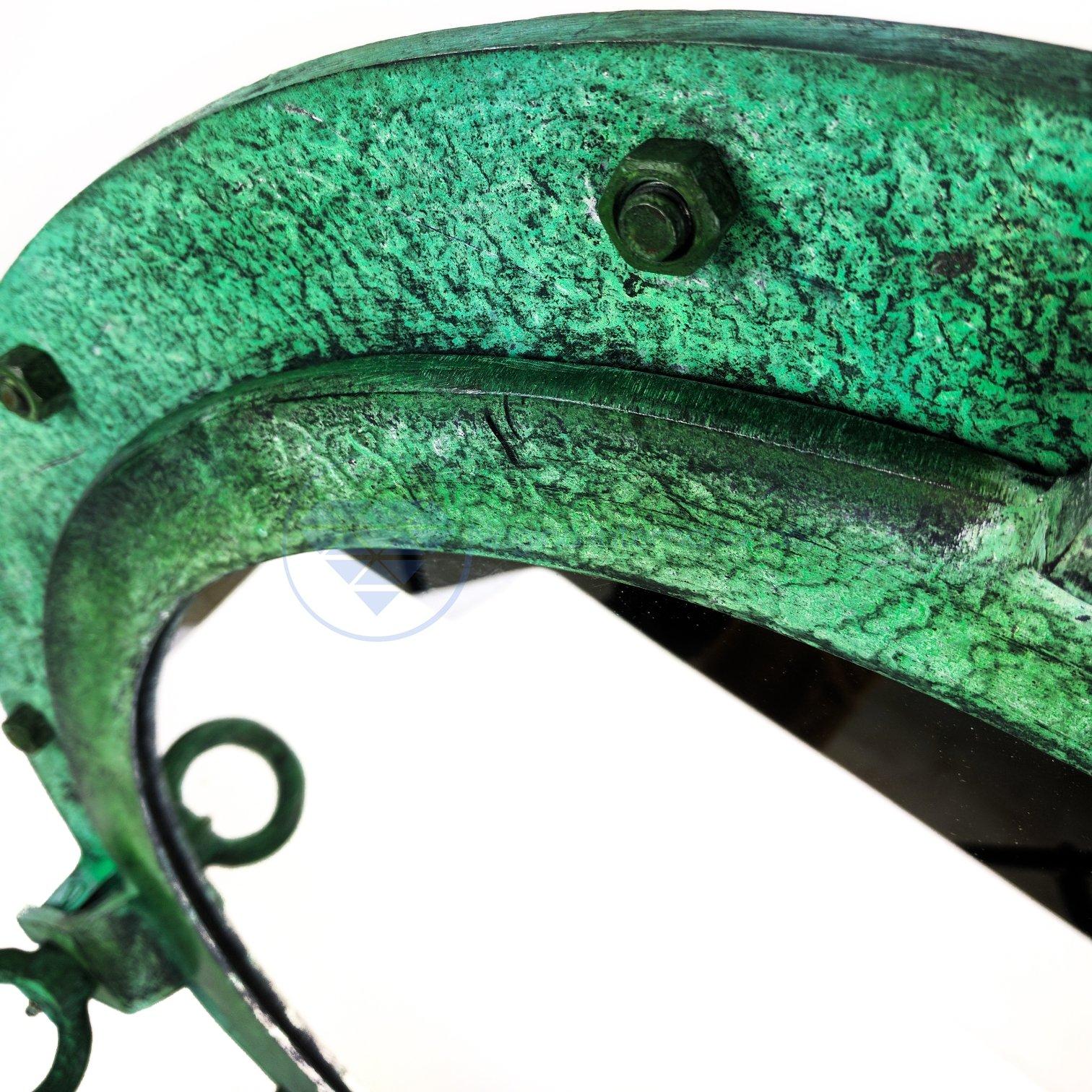 20'' Shipwrecked Premium Aluminum Antique Algae Green Porthole Mirror | Retirement Gift | Nagina International by Nagina International (Image #5)