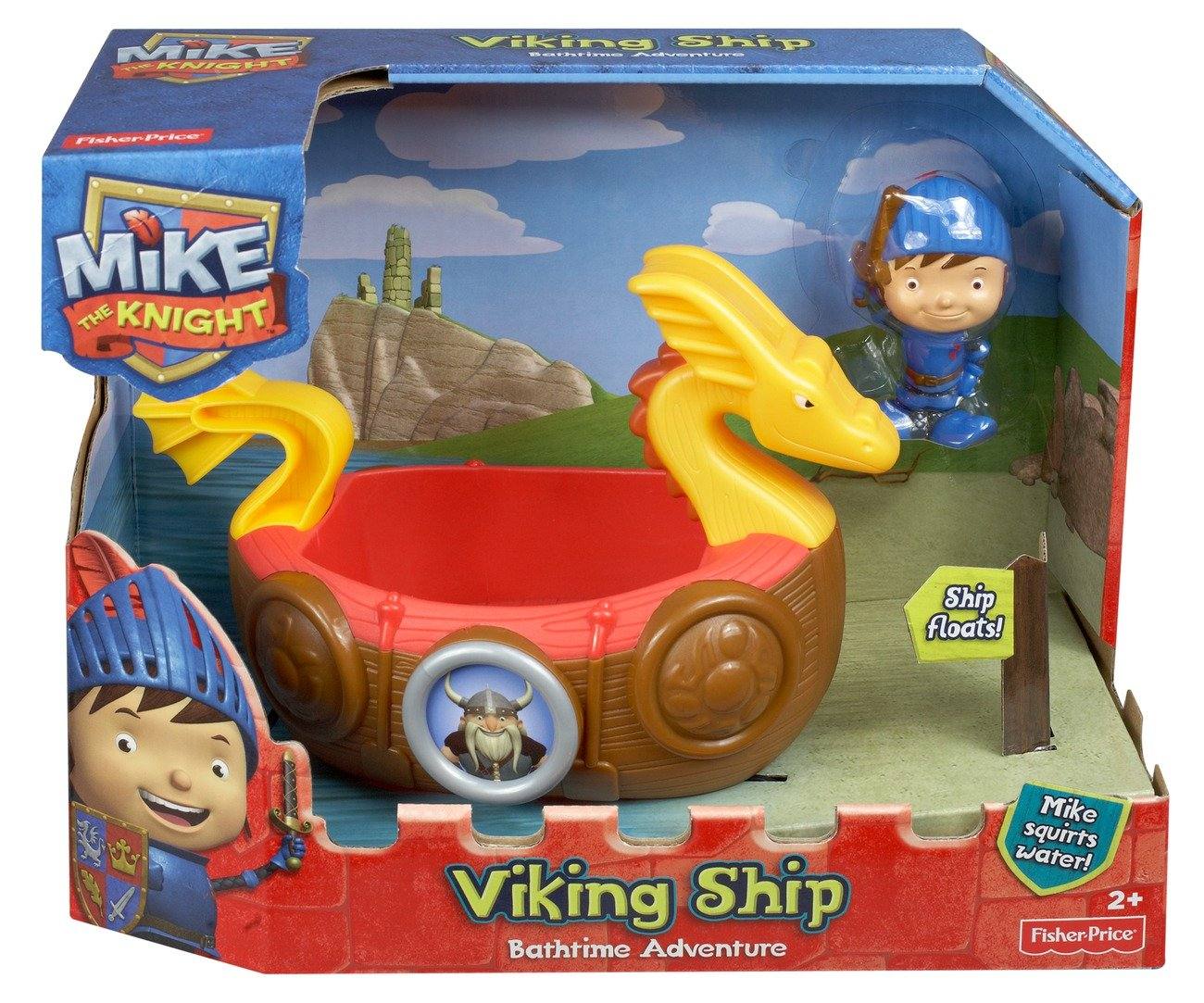 Amazon.com: Fisher-Price Mike The Knight: Bath Viking Adventure Ship ...