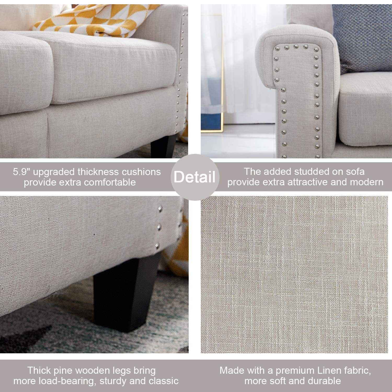 Amazon.com: Top Space - Muebles de salón de 2 plazas, sofá ...
