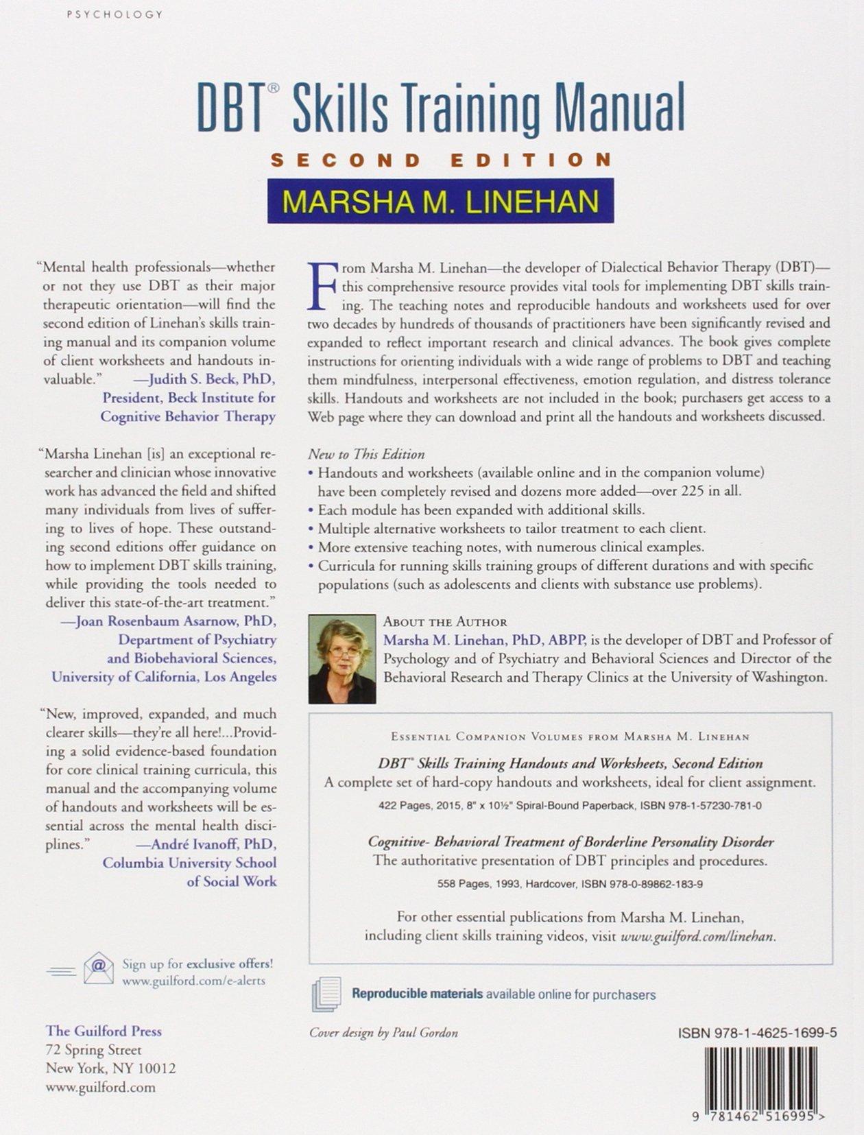 Dbt Skills Training Manual Second Edition Amazon Marsha M