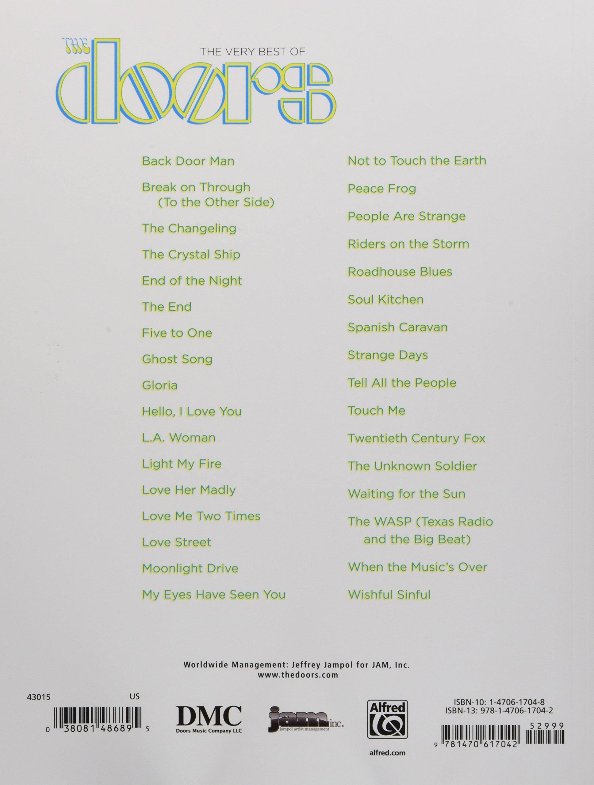 The Very Best Of The Doors Pianovocalguitar The Doors