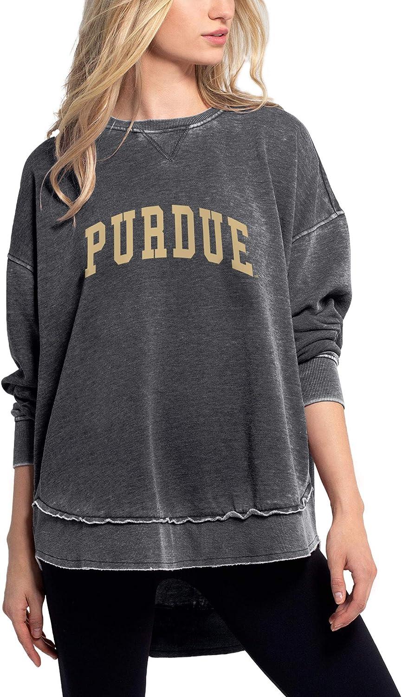 chicka-d NCAA womens Burnout Fleece Sweatshirt