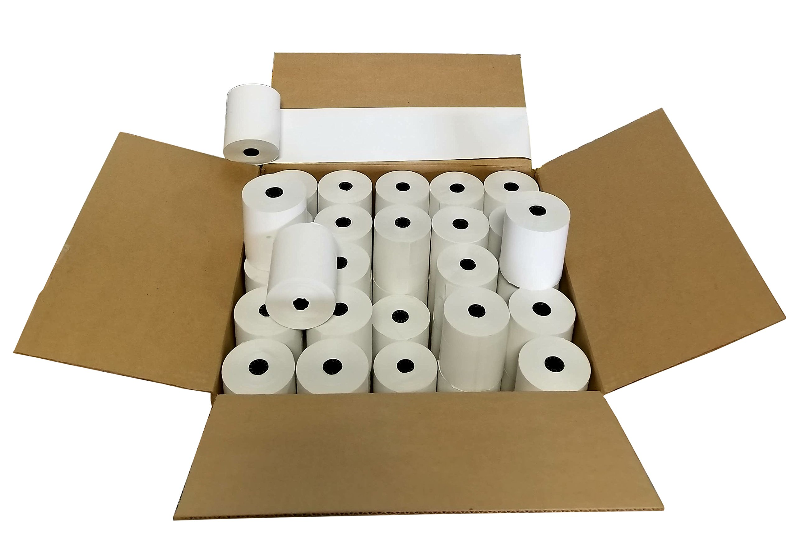 CLOVER PoS 3-1/8'' x 230' THERMAL RECEIPT PAPER - 50 NEW ROLLS by WRB SUPPLY