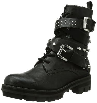 d0d1c4cbcaf534 Tamaris Damen 25233 Biker Boots Schwarz (Black 001) 42 EU  Amazon.de ...