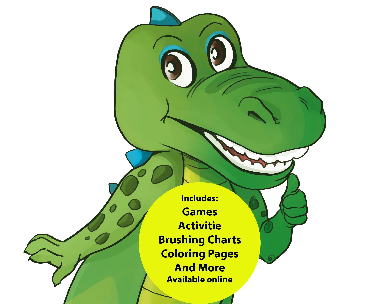 Oral Health Presentation Puppet Al E Gator Educational Plush