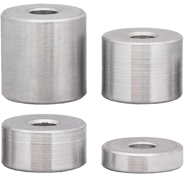 H/ülsen Abstandsh/ülsen Buchse Distanzbuchsen Abstandsbuchsen Schildhalter /Ø Au/ßen 20 mm L/änge 5 mm FASTON Aluminium Distanzh/ülsen M6 /Ø innen 6.5 mm 4 St/ück