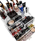 Sorbus Acrylic Cosmetics Makeup and Jewelry Storage Case Display Sets -Interlocking Drawers to Create Your Own Specially Designed Makeup Counter -Stackable and Interchangeable
